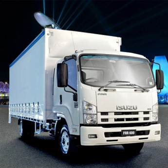 Isuzu F-series Medium Goods Vehicle & Isuzu 24ft Truck Lorries Open Canopy Box - ANL Group